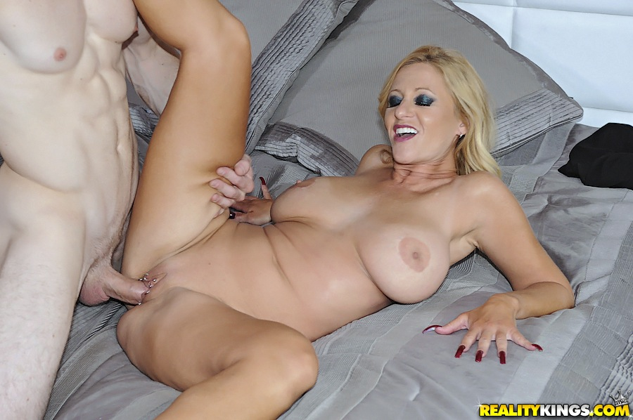 full figured milf gets her big jugs glazed with cum after