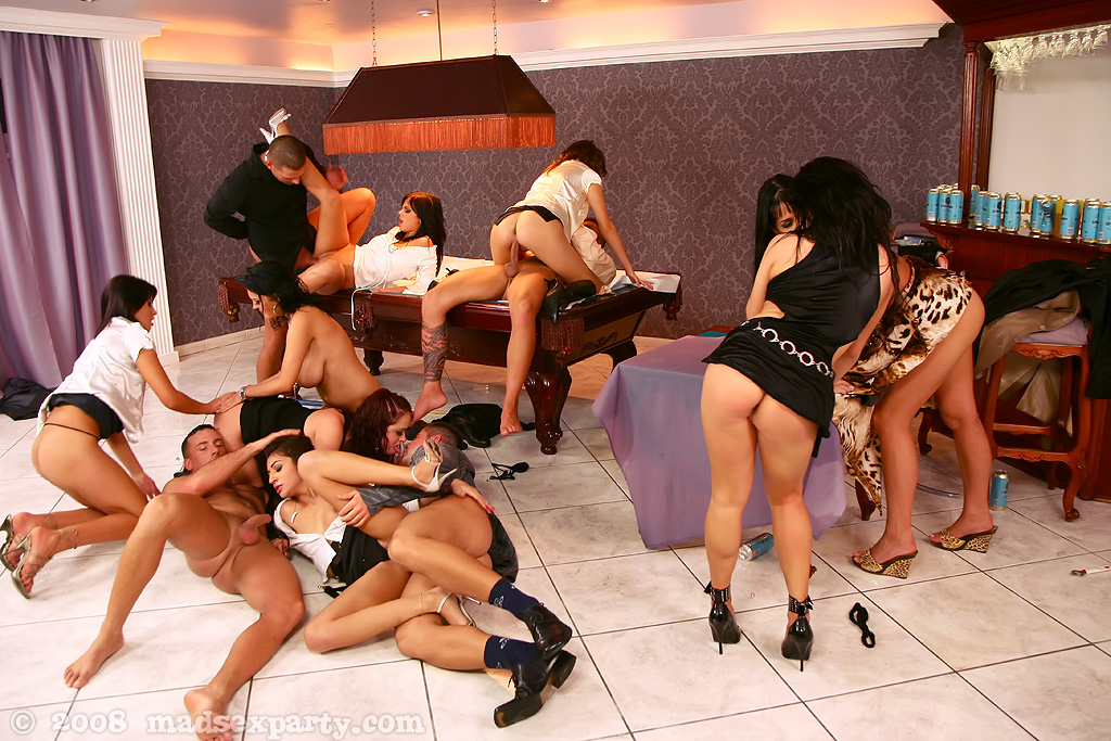 Black guys enjoy orgy