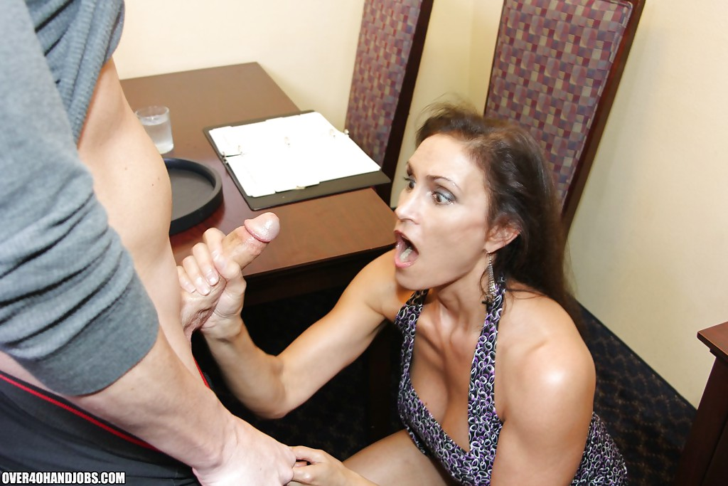 Teacher giving handjob