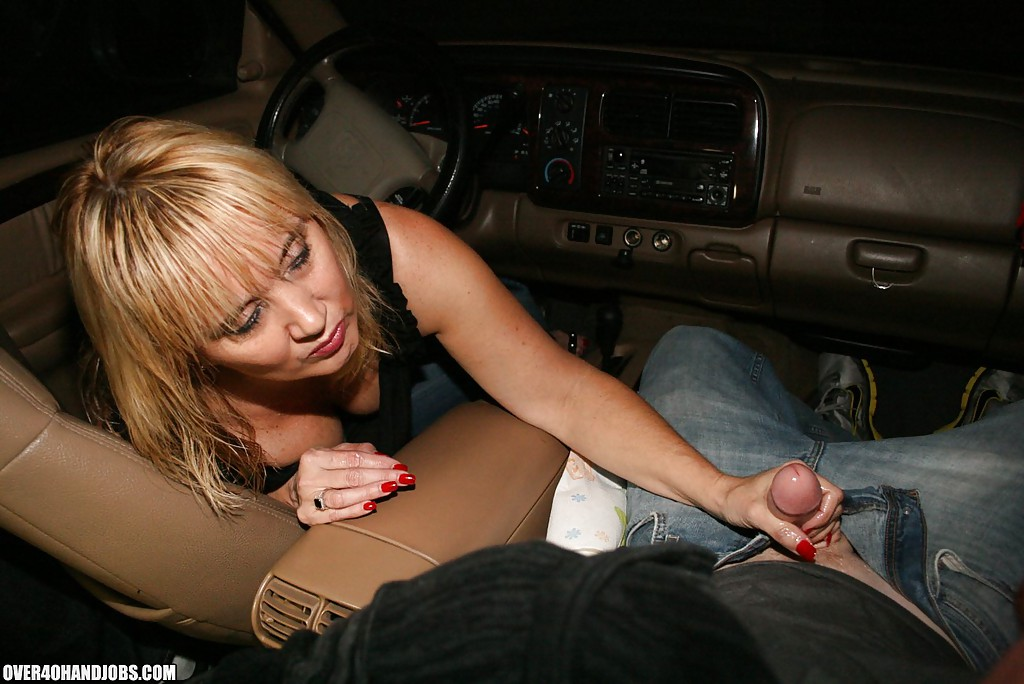 Milf handjob in car chillin with a molten