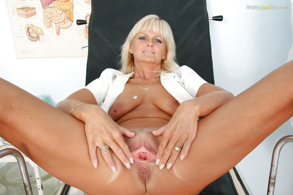 image Naughty blonde milf nurse fucks 9 inches of hard cock