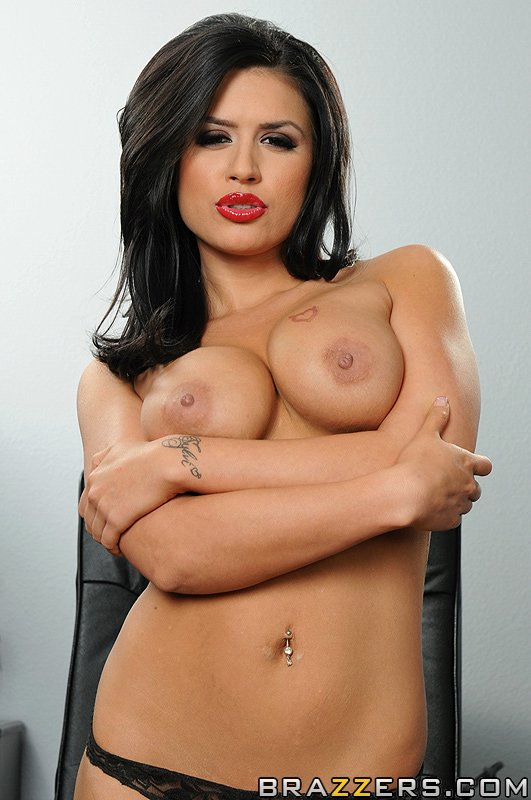 Sultry office lady Eva Angelina enjoys fervent anal buggering
