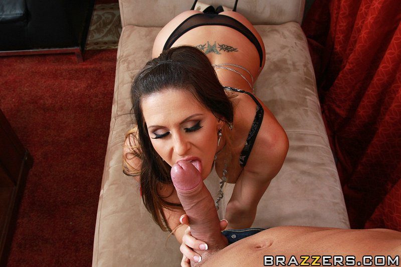 ... Lovely lady in stockings Rachel RoXXX sucks and fucks a fat hard cock  ...