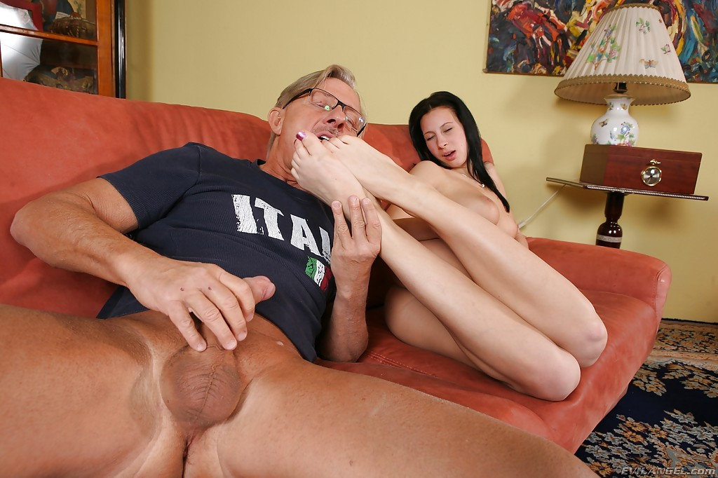 Teen footjobs