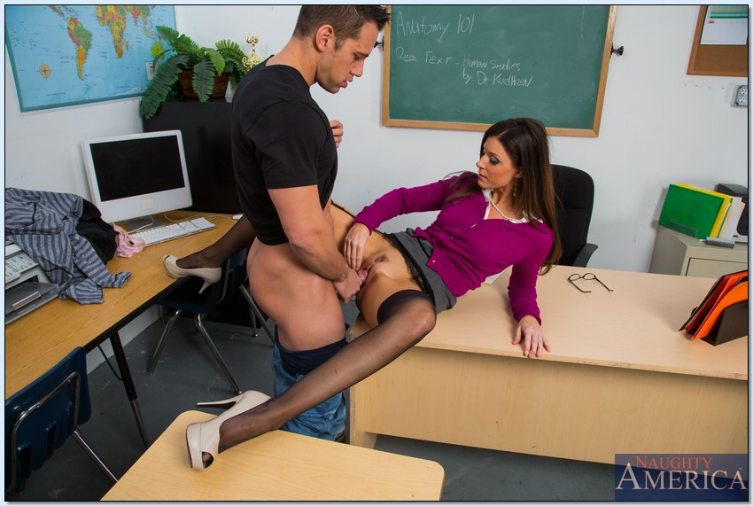 Horny teacher fucks student