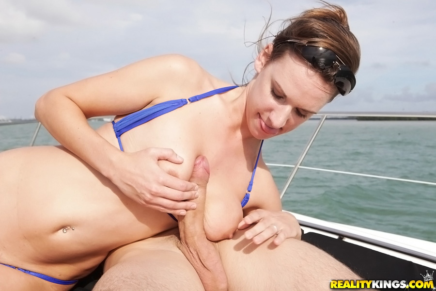 Big cock on boat