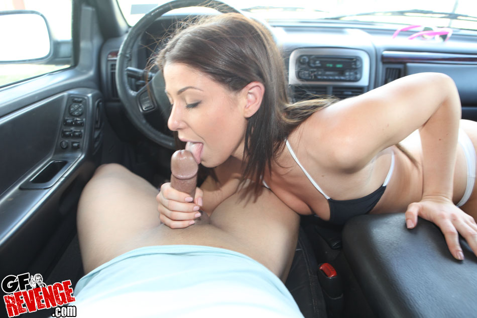 Naked fucking hard in car rather