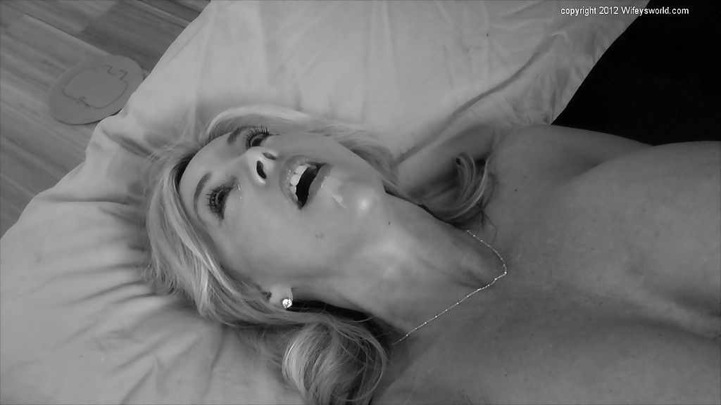 Real wife cum on boobs monochrome