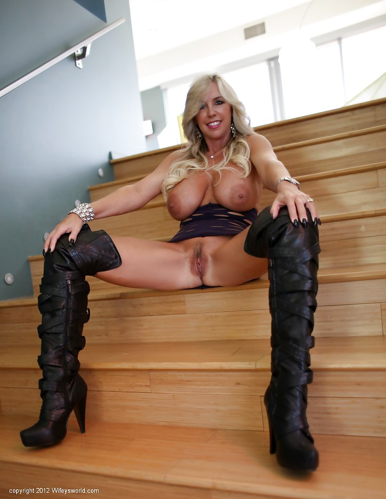Big tits and boots