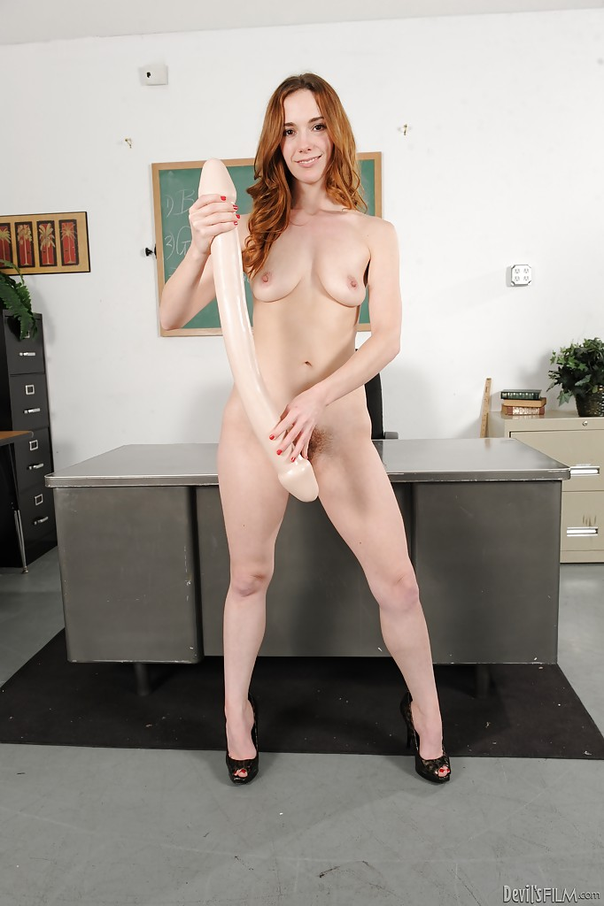 Nasty Schoolgirl With Hairy Muff Sammy Grand Playing With Huge Sex Toys