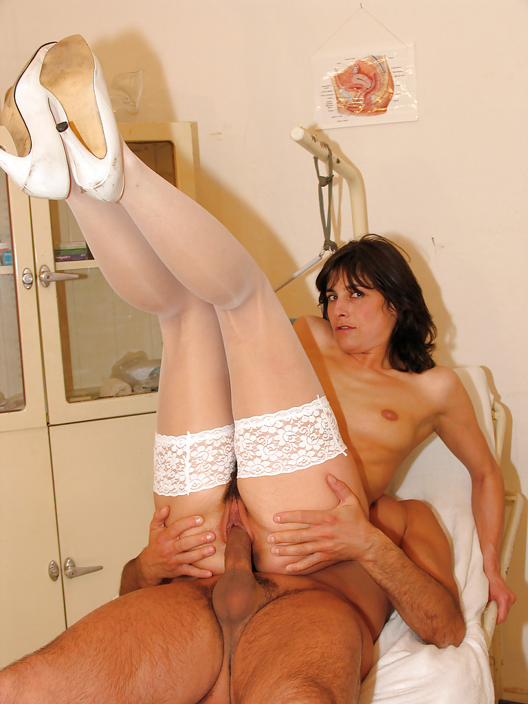 Milfs in stockings fucked