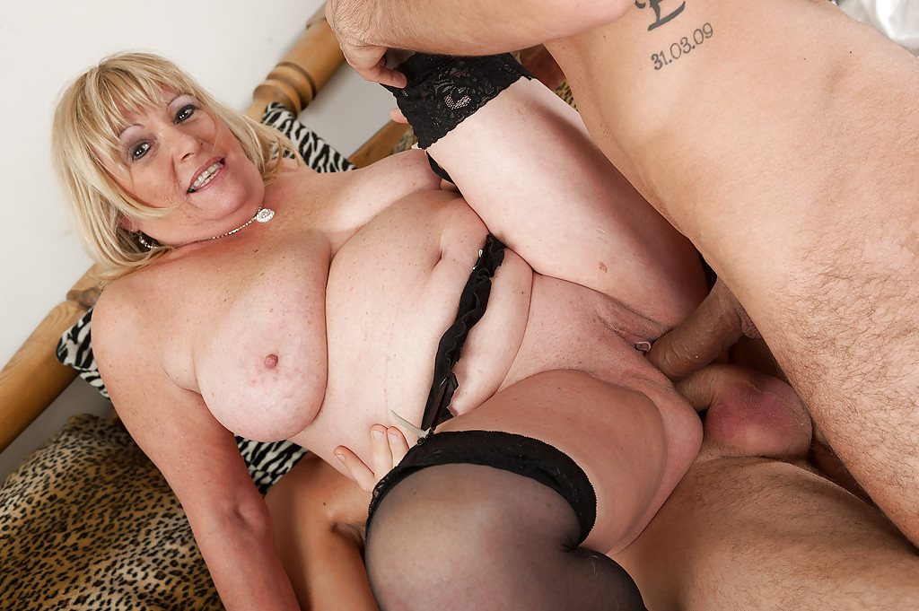 Chubby older women having sex