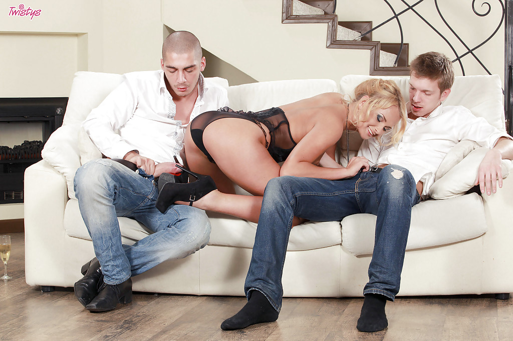 Blonde slut ivana sugar gets double pumped, porn movieing pics