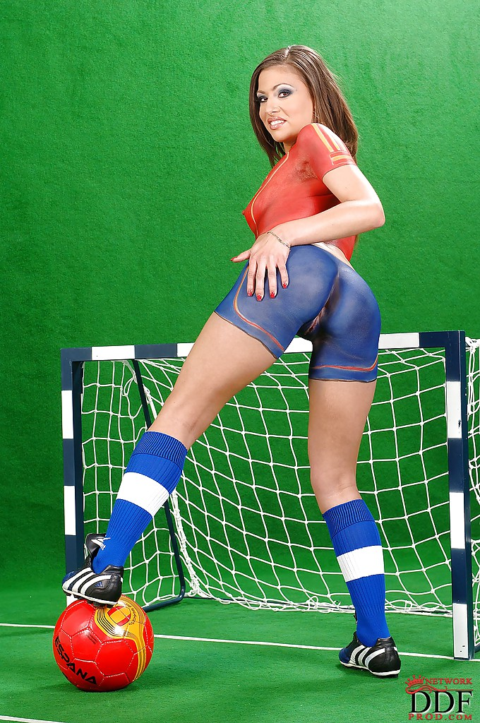 Painted football girls nude advise you