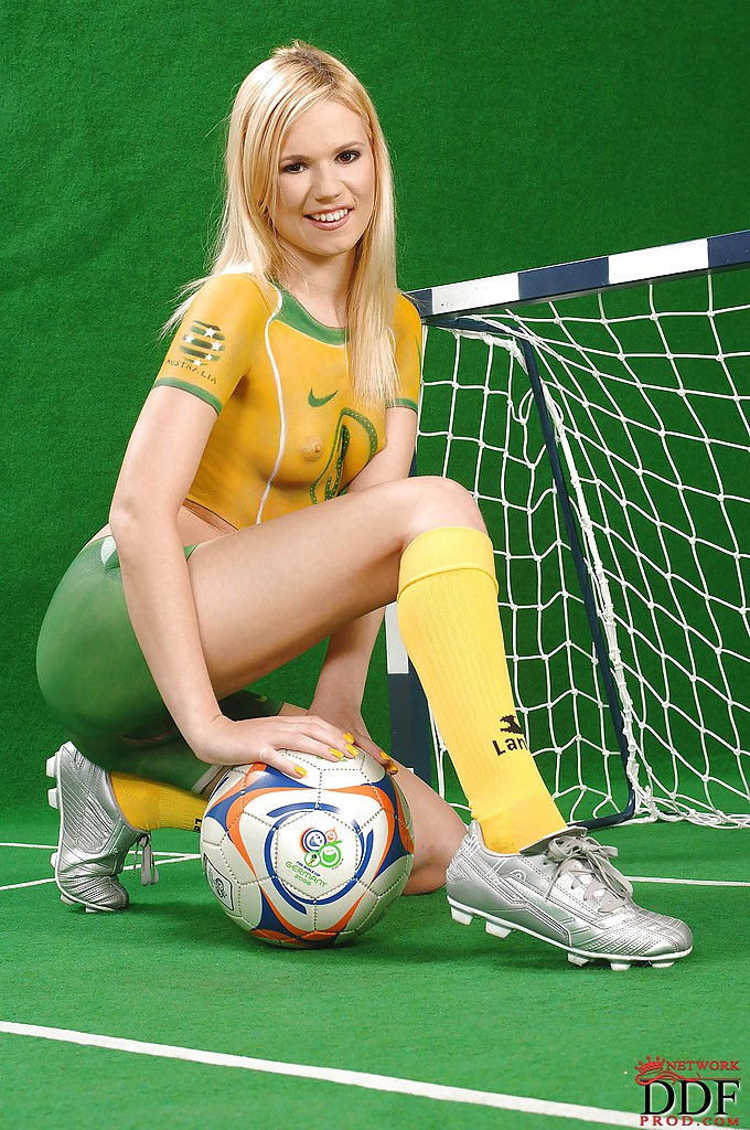 Body painting hot cup soccer asian world