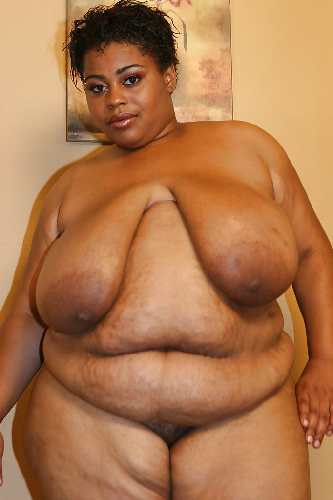 Naked black chubby woman