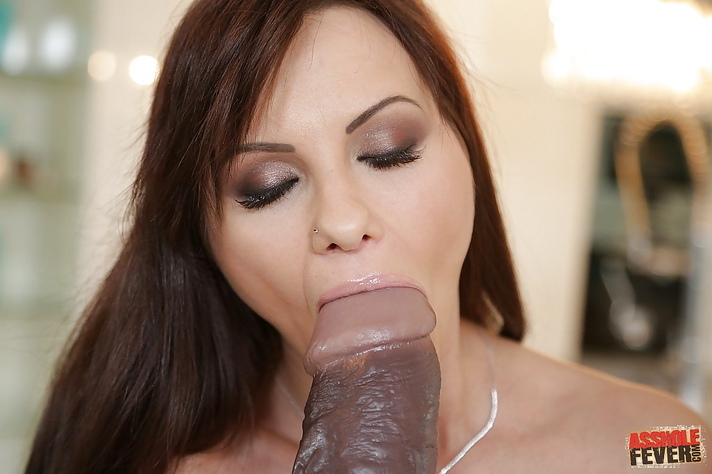 Filthy Brunette Chick Has Some Anal Fun Playing With A Giant Dildo