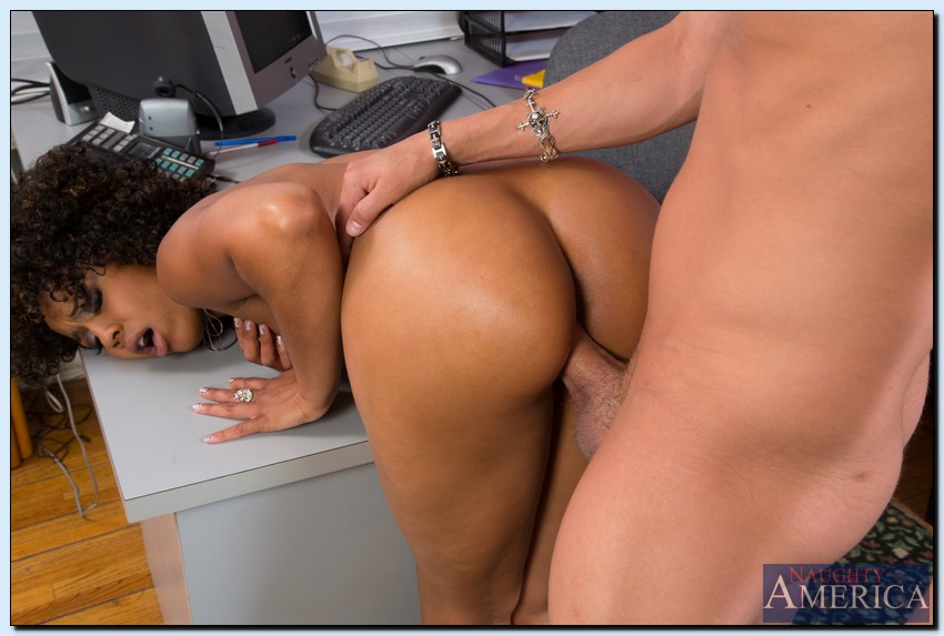 ebony office slut