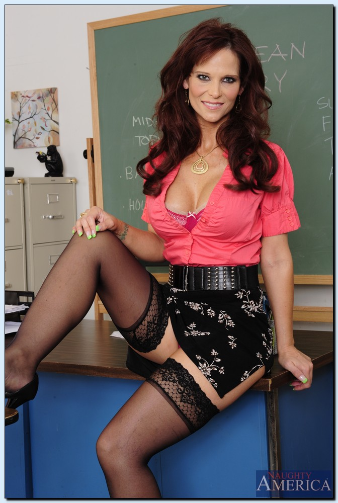 Granny Teacher In Nylons