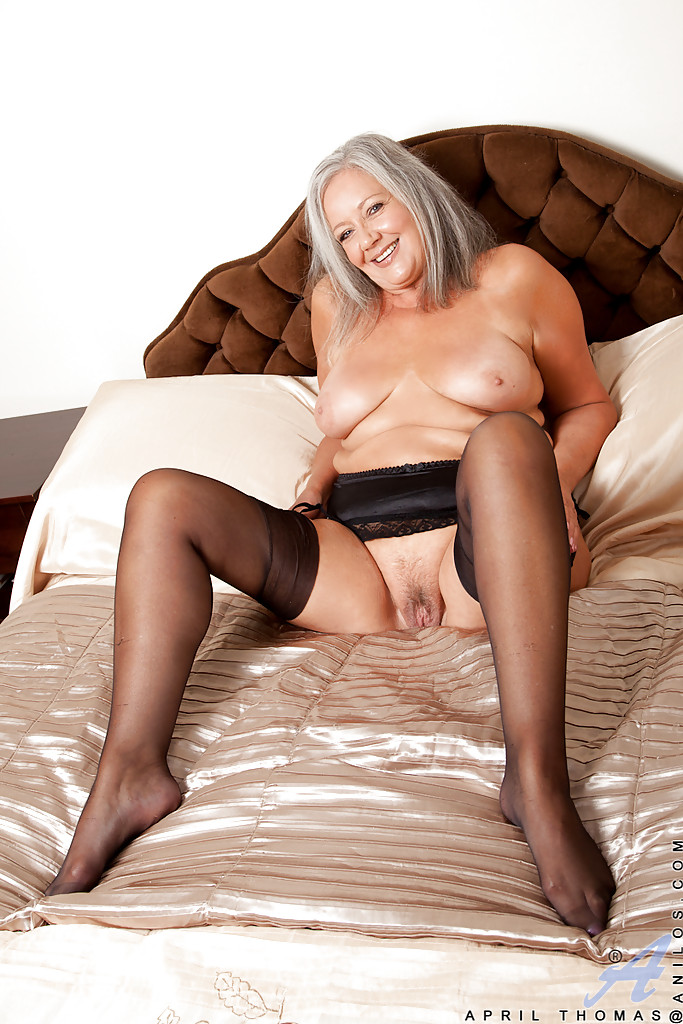Granny big tits stockings
