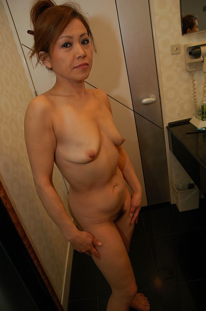 asian milf with saggy tits taking bath and teasing her