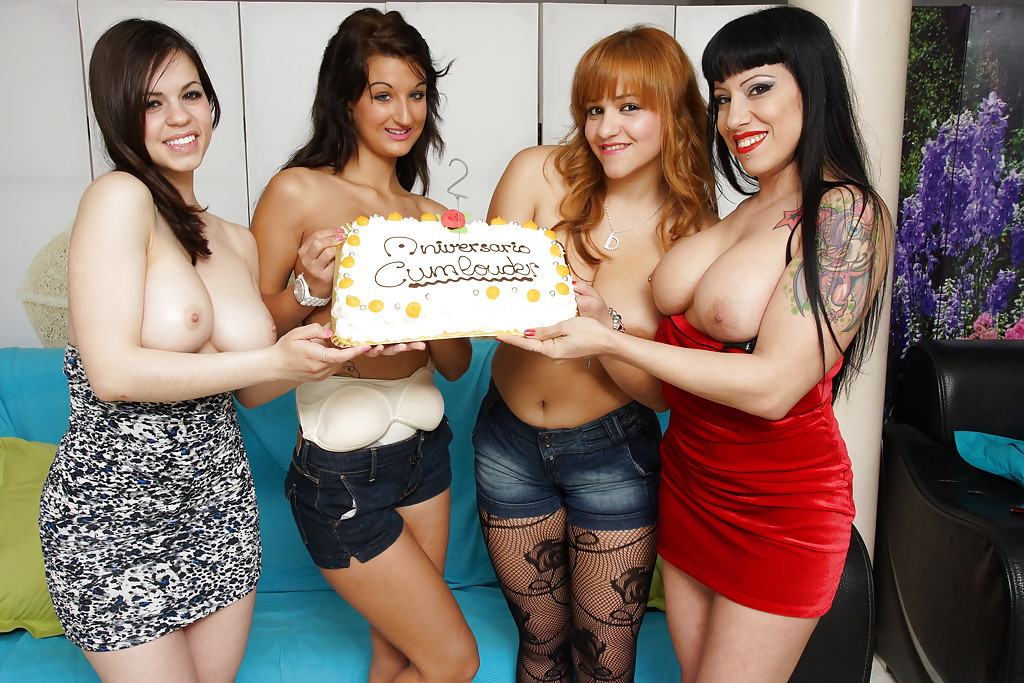 Well-stacked sluts enjoy a birthday party turning into tremendous groupsex