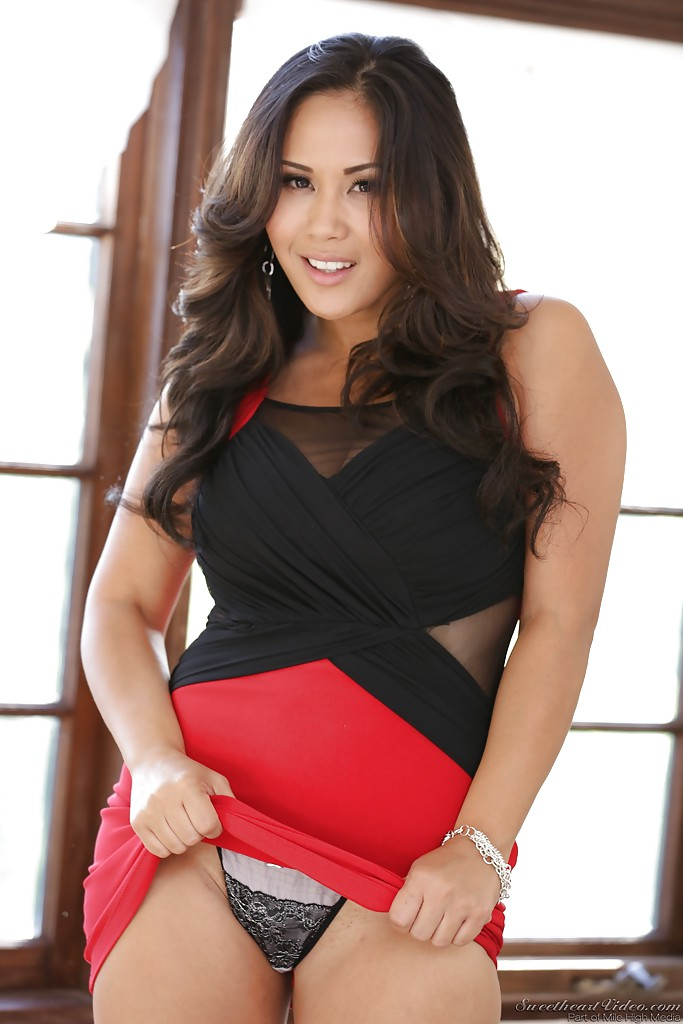 Asian babe london keyes plays with a toy 4