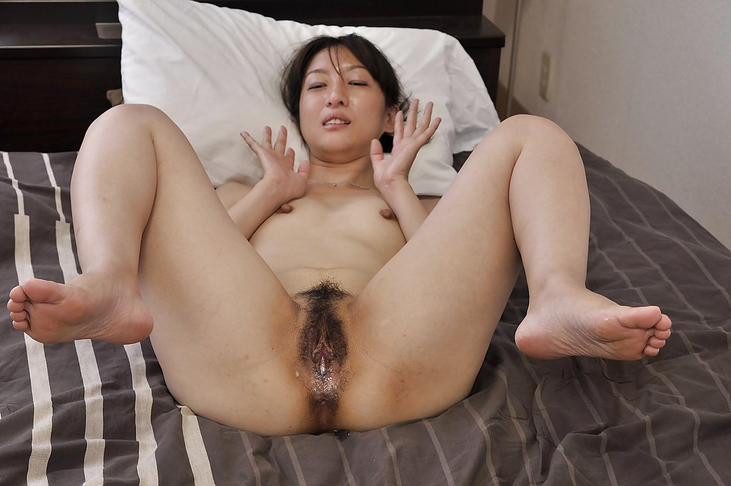 dirty asian pussy - ... Svelte asian MILF Miki Sugimoto gets her hairy pussy vibed and cocked up