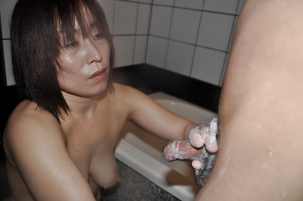 Asian wife sucking cock