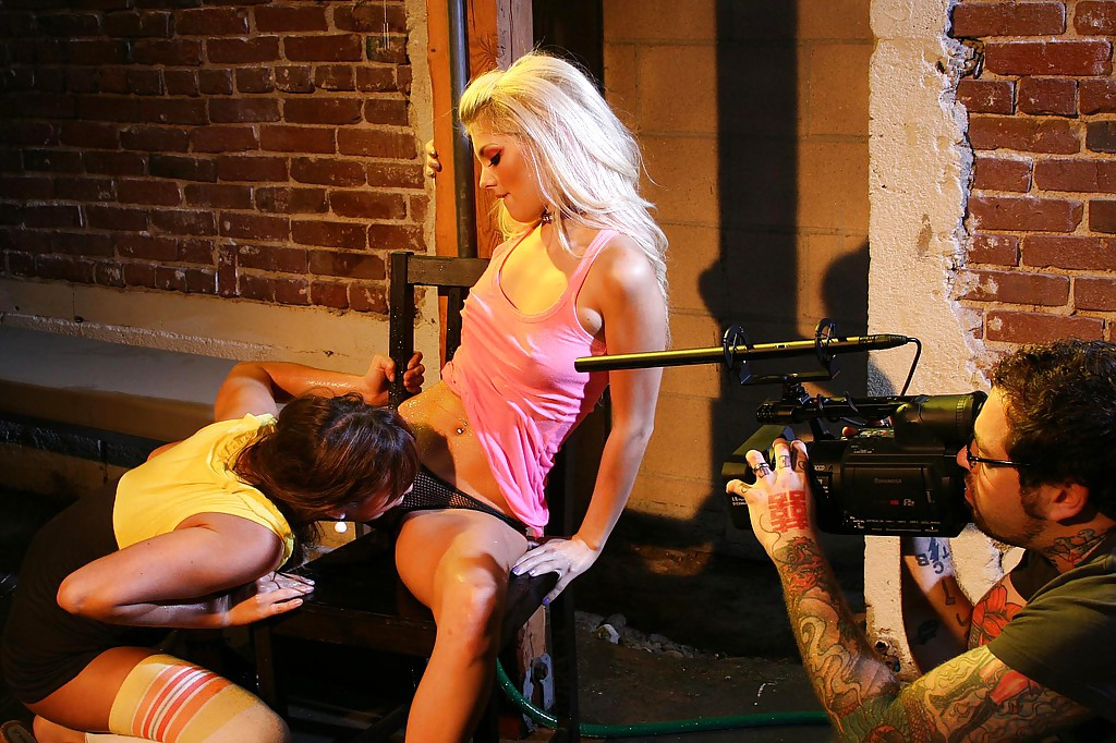 Louisa lanewood at lesbian boot camp, boyfriend convinces girlfriend threesome