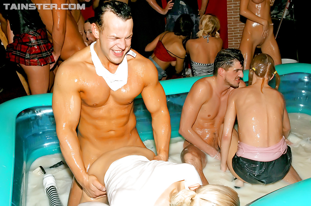 Lewd european MILFs getting harshly fucked at the wet groupsex party