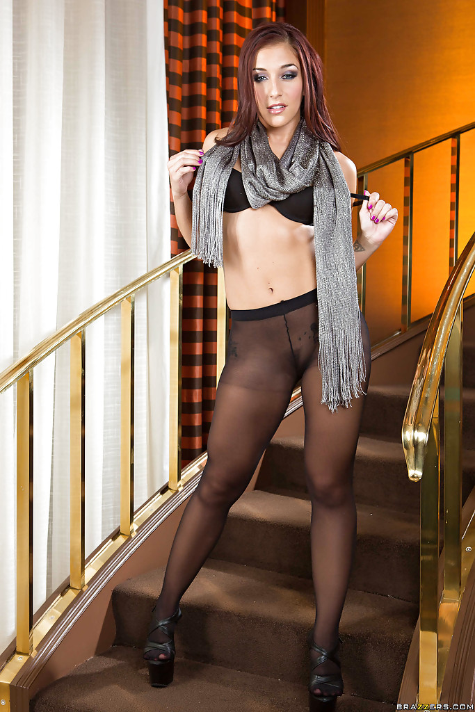 Mischa brooks in pantyhose