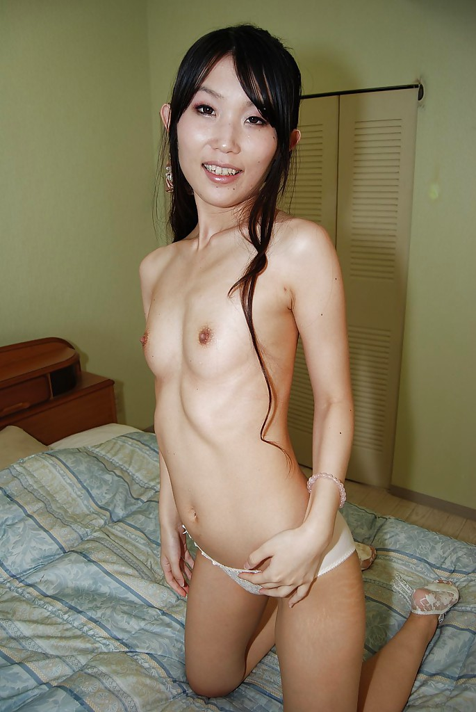 Slim asian babe megumi shino hard fucked by two males