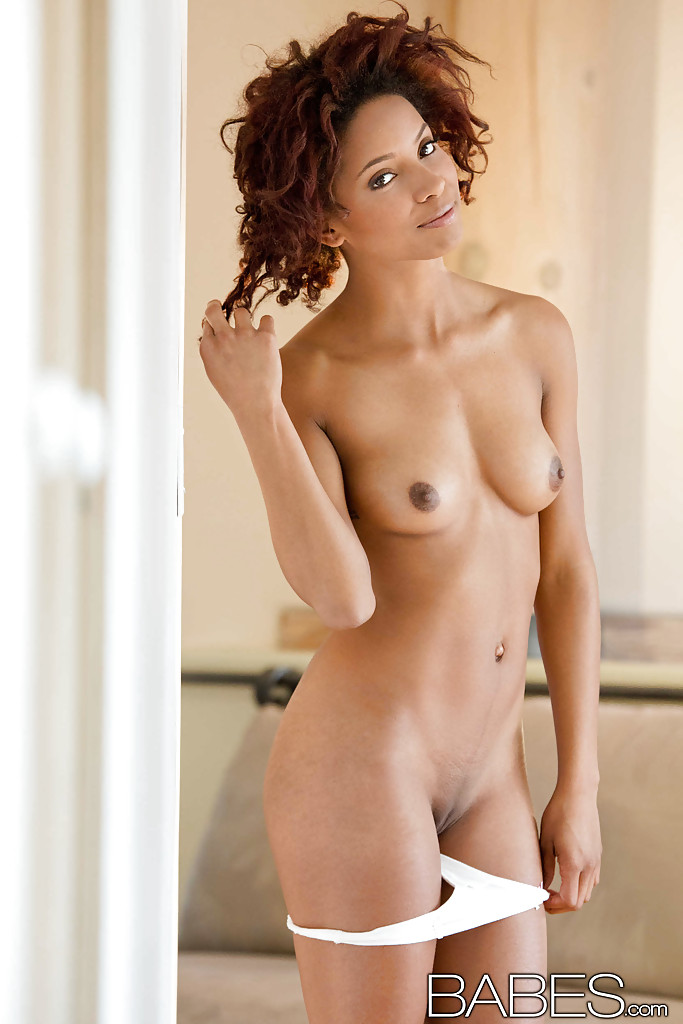 hot curly hair ebony nude