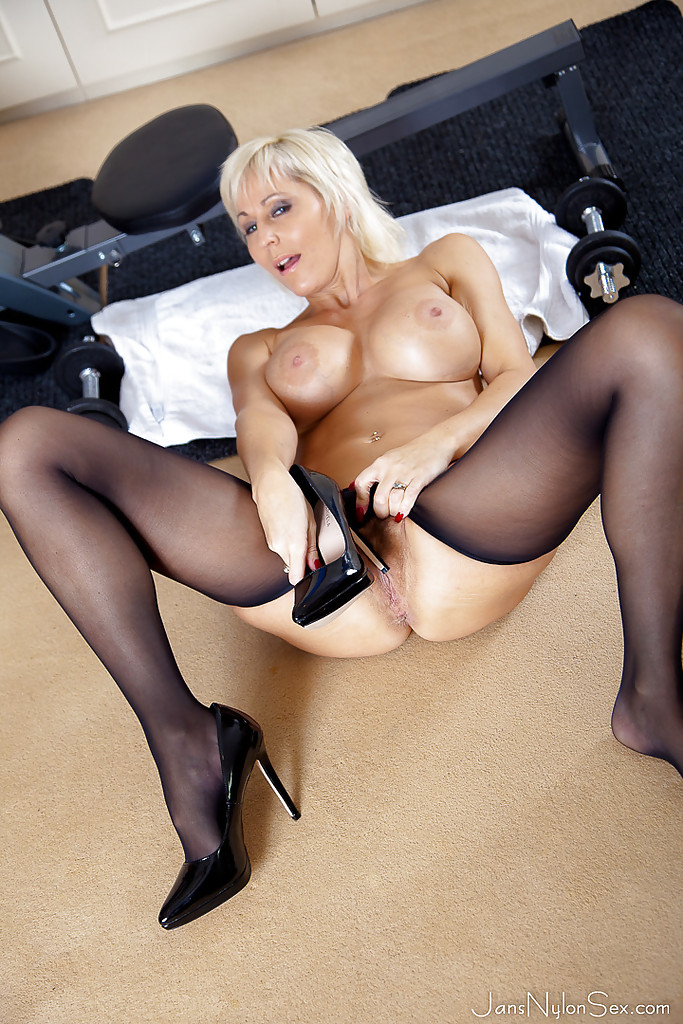 Beige stockings short hair vs long hair - 1 part 2