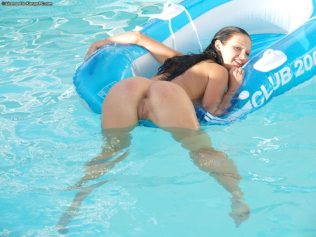 at pool wife the nude Amateur