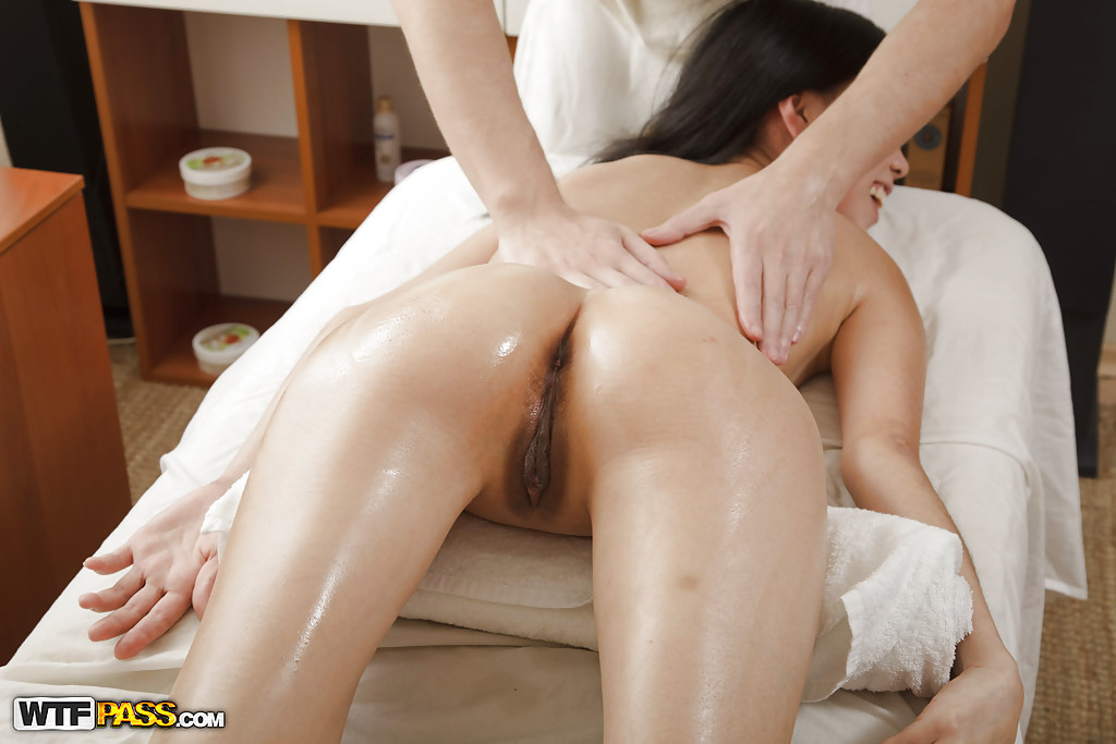 asian girl massage big butts