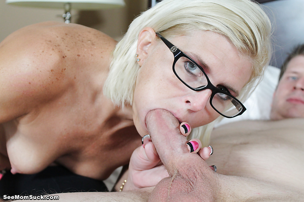 Milf sucking sons cock
