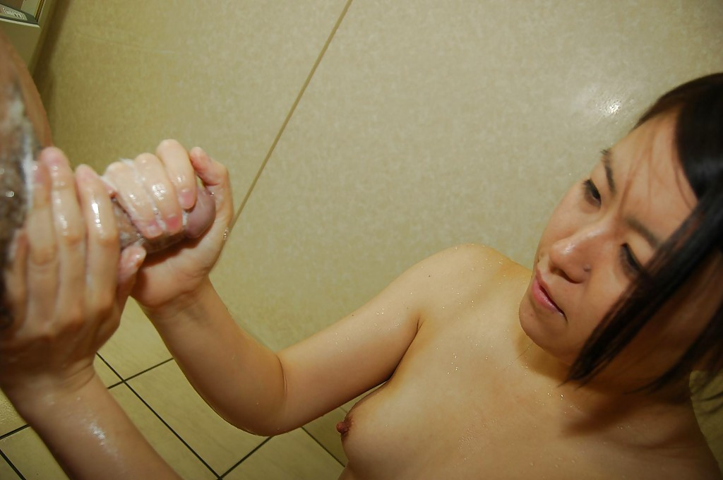 Asian soapy handjob