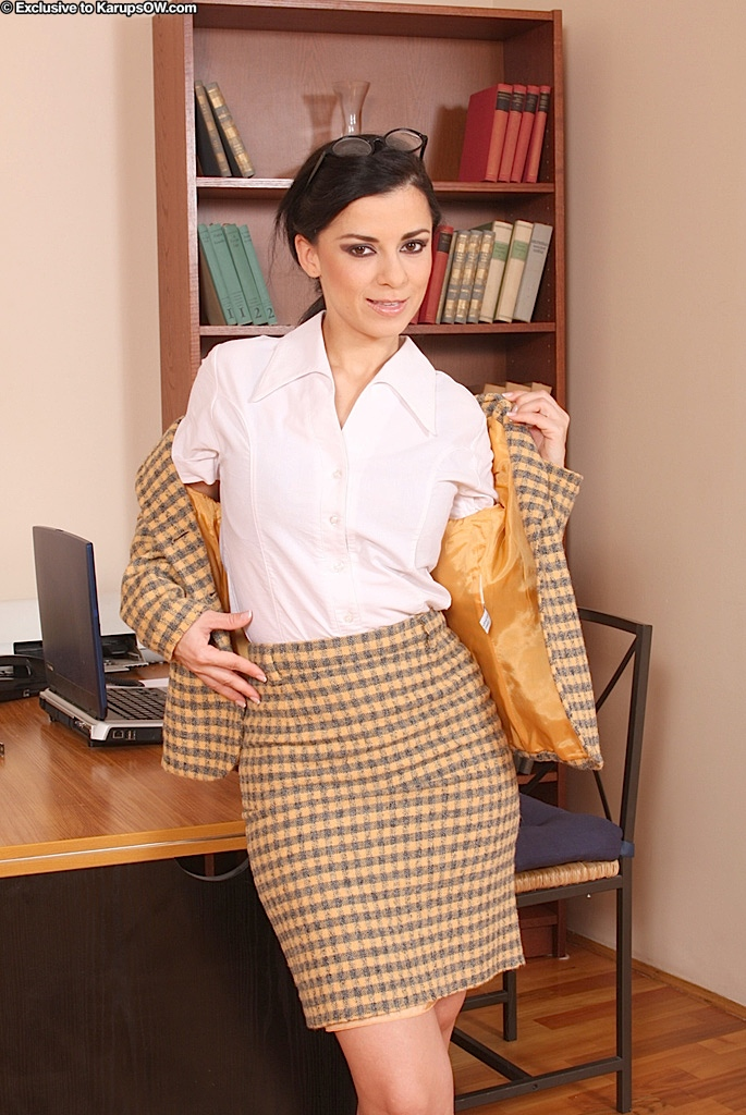 Milf office tease