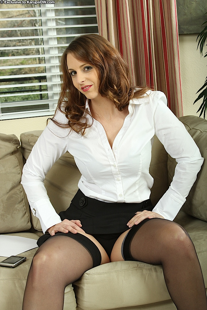 uniform office pussy in