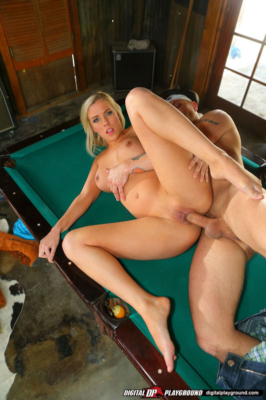Blonde Fucked Two Cocks