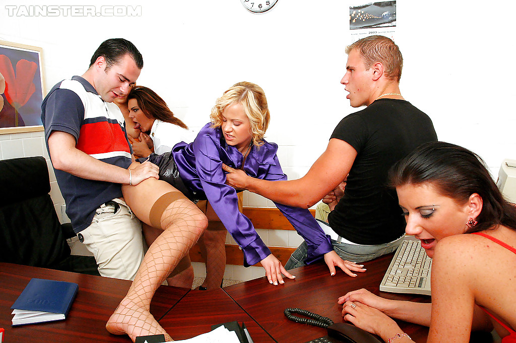 Fully clothed orgy