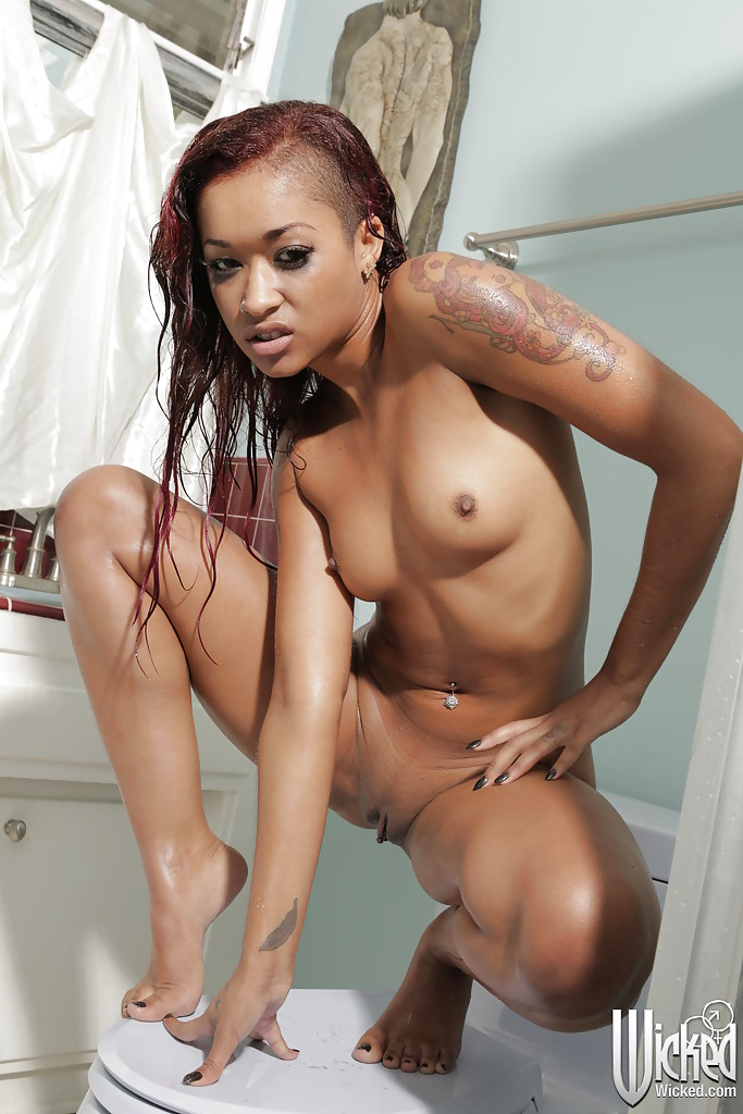 Nude ebony tattooed women #12