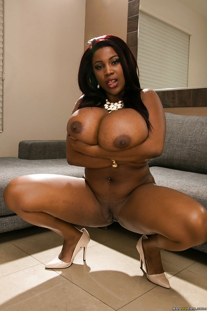 Busty black milf gets pounded on her back then facialed 8