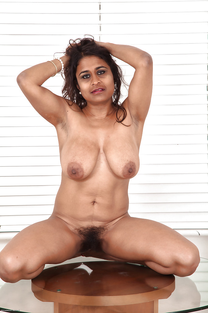Hairy indian mature