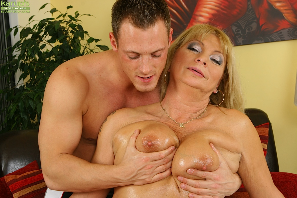 Oiled up mature