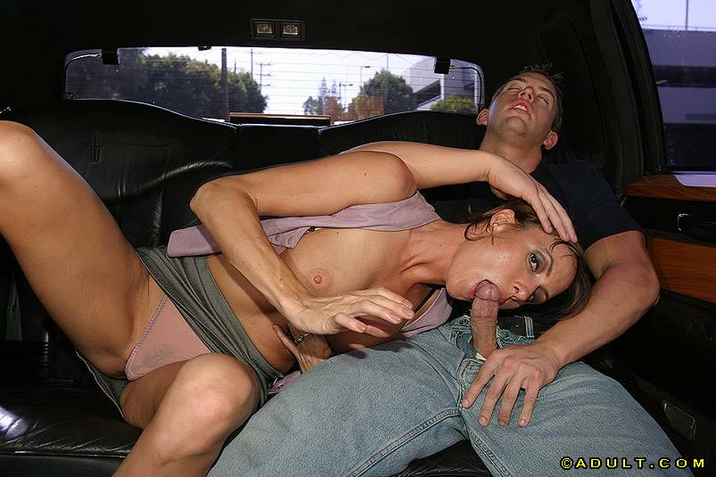 In the backseat blowjob