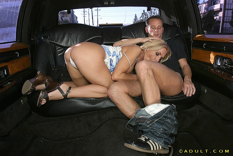 well stacked blonde milf gets tricked into a blowjob on