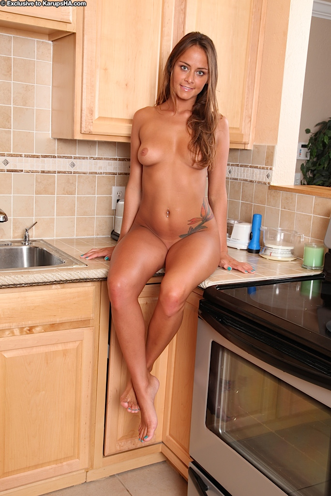 Have Naked kitchen nude sex